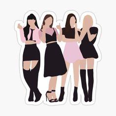 Black Pink Songs, Black Pink Kpop, Pop Stickers, Black Pink Dance Practice, Blackpink Photos, Blackpink Jisoo, Billie Eilish, Photo Cards, Fan Art