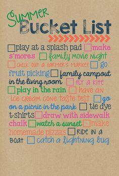 Summer Bucket List Magnet