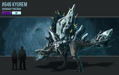 Compared to realistic kyurem and a human.Kyurem looks really small but I think this realistic ice dragon dinosaur looks really cool in my opinion it's also one of my favorite legendarys