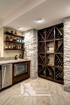 contemporary basement by Finished Basement Company by dmcswine01