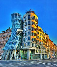 so crazy.  Dancing House, Prague, Czech Republic