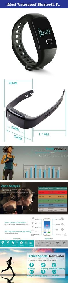 iMusi Waterproof Bluetooth Fitness Heart Rate Monitor Fitness Tracker Activity Trackers Pedometer Smart Band - Black. Specification: Product Type: Smart Bracelet Model: ID54 iMusi APP OS: IOS8.0 & above Android4.3 & Accommodation above Acceleration sensor: triaxial accelerator Heart rate sensor: PPG (photoelectric capacity phygmography) Main controller: Cortex-M4 core Memory: 8M Vibration motor: columnar motor Waterproof: IP65 3ATM (anti-sweat, rain, water drops) Display: OLED blue light...