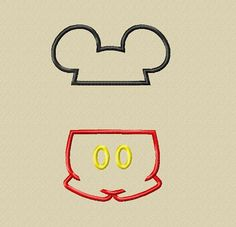 Design - Instant Download - ADD A NAME Split Mister Mouse Ears and Pants Applique Design 5x7 6x10 on Etsy, $3.75