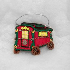 Gypsy wagon plaque/ornament romany gypsy Polymer by Wishcraft2013, £10.00
