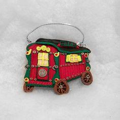 Gypsy wagon plaque/ornament romany gypsy Polymer by Wishcraft2013, £10.00