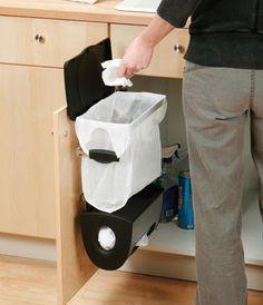 Cubo de basura limpio, elegante y práctico