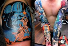 Star Wars full sleeve #tattoo. Via tattooartistmagazineblog.com