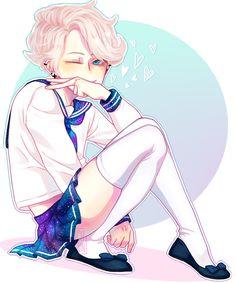 Un Jun puberto y antes de teñirse las puntas (??) Éste vato será una puta, pero no barata. ;^) *No sé dibujar otra cosa que no sean tenis*