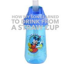 How My Son Learned to Drink from a Straw Cup | Disney Baby Yes.