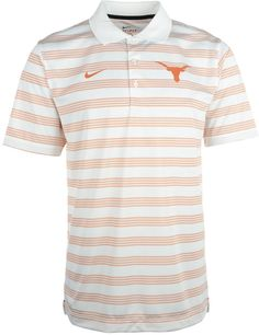 Be sure to grab the Nike NCAA Preseason polo shirt, featuring Dri-FIT technology and professional golf styling. With contrast stripes and a raised Texas Longhorns logo at the chest, you might get mistaken for an assistant coach. Polo collar Pullover style