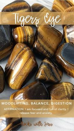 Tigers Eye Tumbled Pocket Stone — Rocks with Sass Crystals Minerals, Rocks And Minerals, Crystals And Gemstones, Stones And Crystals, Gem Stones, Crystal Healing Stones, Crystal Magic, Crystal Grid, Meditation Crystals