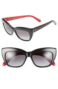 a184656305b4 kate spade new york  crimson  50mm cat eye sunglasses New York S