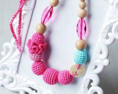 Collana di Nautica Sailor Babywearing di NecklacesForMommy su Etsy