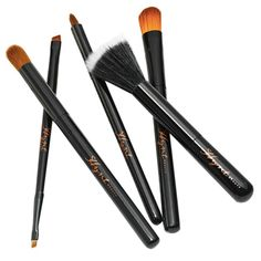 Handmade with exquisite Japanese Taklon bristles, this selectively-curated line of brushes is designed to make the application of powder make-up easy and flawless. Each Hynt brush features bristles that are secured onto hand sculpted, sustainable wood handles and nickel-plated brass ferrules. Gorgeously effective for all your cosmetic needs, this set contains Hynt's Air Blender Brush, Duo Liner Brow Brush, Smudger Brush, Concealer Brush and Shadow Blender Brush. Please note this set does ...