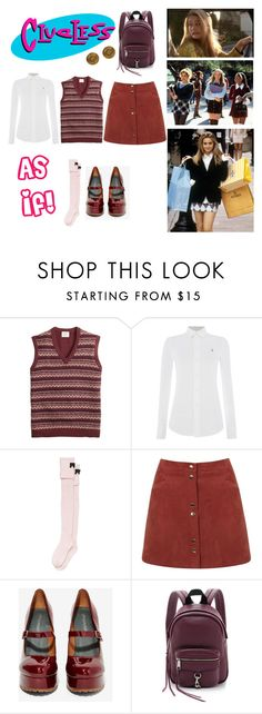 """""""Cher Horowitz - Clueless (31 Costumes for October)"""" by vintageabbey ❤ liked on Polyvore featuring SilverStone, Brooks Brothers, Polo Ralph Lauren, Kate Spade, Miss Selfridge, Jeffrey Campbell and Rebecca Minkoff"""