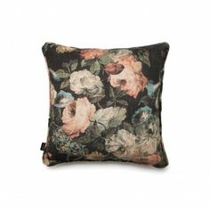 MIDNIGHT GARDEN Medium Linen Viscose Cushion £65