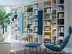 Librería abierta de pared lacada Colección COLOURS, EVERYDAY by FEBAL   diseño Studio Ferriani
