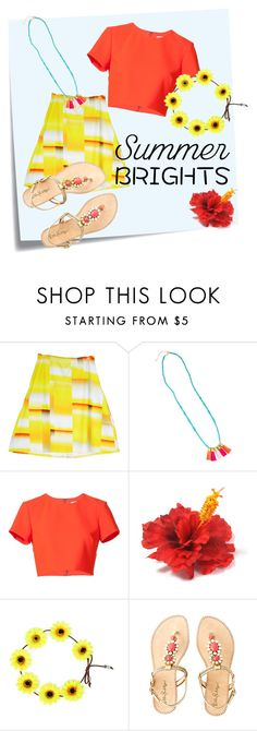 Bright Summer Ahead by neonpeach01 on Polyvore featuring Nicole Miller, Erica Waddell Clothing, Lilly Pulitzer, Post-It and summerbrights