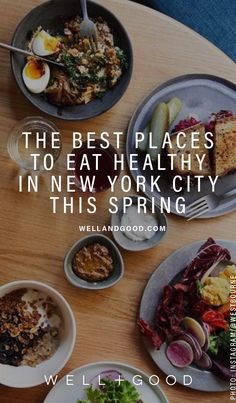 Gorgeous photos and great restaurants. Everywhere you need to eat in New York City this spring, especially if you're trying to be healthy Healthy Restaurants Nyc, New York Restaurants, Restaurant New York, Healthy Cafe, Healthy Eating, Healthy Food, New York Food, Food Nyc, Food Food