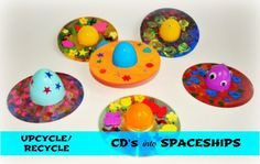 52 Beautiful CD Craft Ideas 50 cd craft ideas for kids, preschoolers and adults. Craft projects to m Crafts With Cds, Cd Crafts, World Crafts, Crafts For Boys, Toddler Crafts, Preschool Crafts, Space Preschool, Easy Mother's Day Crafts, Easy Arts And Crafts