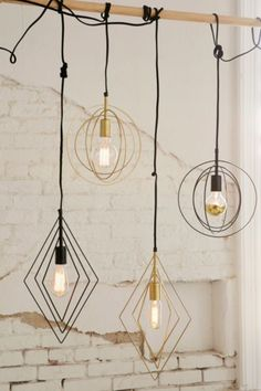 Assembly Home Wyatt Diamond Pendant Light - Urban Outfitters Interior Design Inspiration, Room Inspiration, Home Interior, Interior And Exterior, Style Deco, Ideas Hogar, My New Room, Pendant Lighting, Wire Pendant