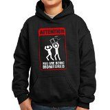 http://ift.tt/1MPEwQW Nutees Attention! You Are Being Monitored Cctv Komisch Unisex Kinder Kapuzenpullover  Schwarz 5/6 Years
