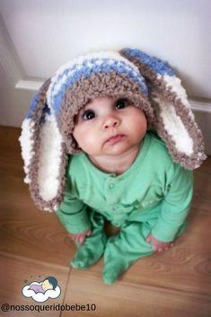 0 to Newborn Boy Baby Bunny Ears Hat Crochet Rabbit Infant Crochet Hats For Boys, Crochet Baby Hats, Crochet Clothes, Baby Bunny Ears, Bunny Hat, Baby Boys, Baby Boy Newborn, Couple Halloween Costumes For Adults, Couple Costumes