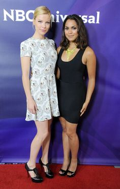 Lauren German and Monica Raymund at the NBC Universal Summer 2012 Press Tour.