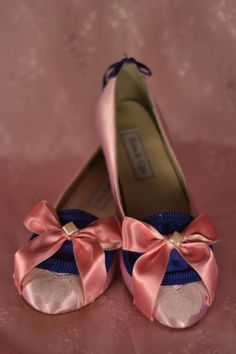 Marie Antoinette Pink & Royal Blue Pumps by OxfordIsHeaven on Etsy