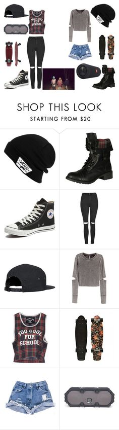 """Untitled #581"" by mialangston ❤ liked on Polyvore featuring Vans, Soda, Converse, Topshop, H&M, Filles à papa, JBL and Altec Lansing"