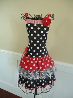 apron . . burst of dots . . .