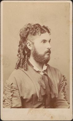"""ca. 1860's, [carte de visite portrait of a bearded lady], Wenderoth & Co.  via Cornell University, """"Dawn's Early Light: The First 50 Years of American Photography"""" Exhibition"""