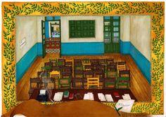 Rosa Maria Unda Souki, El juicio, 2015, Grease pencil and marker pen on paper, 29,7 x 42 cm, Courtesy Galerie Dukan | Galerie Dukan