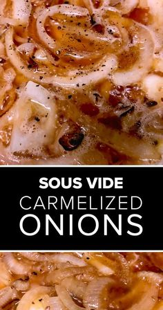 Sous vide onions in beer! This recipe for caramelized sous vide onions adds bold flavor to pasta dishes, sous vide sandwiches, pizzas, sauces, and more. Its a delicious sous vide vegetarian recipe. Adapt for sous vide pearl onions. Vegetarian Recipes Easy, Vegetarian Cooking, Vegetable Recipes, Vegetarian Sandwiches, Cooking Rice, Cheap Recipes, Cooking Turkey, Easy Recipes, Going Vegetarian
