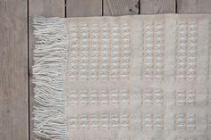 Vintage Pendleton Wool Stadium Throw Blanket - White Tan. $55.00, via Etsy.