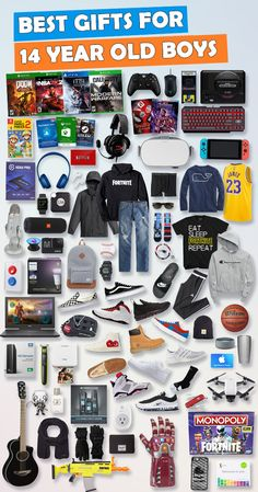 Gifts For 14 Year Old Boys [Over 900 Gifts!] See over 650 gifts for 14 year old boys for Birthdays and Christmas. Tons of ideas – Electronic, sports and outdoor gift ideas. Here are the best gift ideas for 14 year old teenage boys. Teen Boy Birthday Gifts, Birthday Presents For Teens, Teen Presents, Birthday Party For Teens, Birthday Gifts For Boyfriend, Boyfriend Gifts, Birthday Ideas, Funny Boyfriend, Husband Birthday
