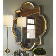 Have to have it. Uttermost Lourosa Gold Mirror - 39.75W x 39.75H in. - $435.6 @hayneedle