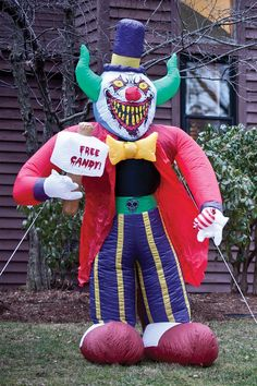 8 Ft Free Candy Killer Clown Halloween Airblown Inflatable BUY NOW