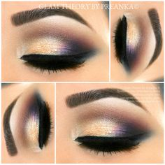 Gorgeous look with the UD Vice 2 pallette. Great example of small doses of different colors working together to create tasteful drama.