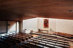 A combination of curiosity and appreciation sees the revisiting of one of Sydney's important modernist classics. Designed by Donald Gazzard of Clarke Gazzard and Partners in 1965, Wentworth Memorial Church is a standing exemplar of the movement's fruits within Australia. Photographer Luc Remond speaks to the initial draw to capture the public building through a contemporary. #churchdesign #australianarchitecture #architect