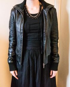 Go edgy with leather and statement jewellery - http://louiselately.hubpages.com/