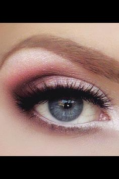 Bridal make up idea :) many colours would work in this style