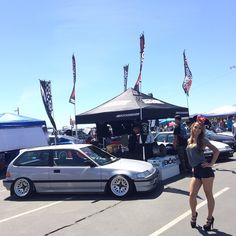 Ohh EF yeah!!! @KallitaDaniel and some of our favorite #EF9 #Honda #Civic hatchbacks getting sunburnt at the #Eibach Honda meet at #StormStadium. If you want some #AMEwheels x #Fatlace #FZero, contact our friends at @AutoRND.  #MOTORMAVENS
