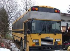 raised roof school bus home - Google Search