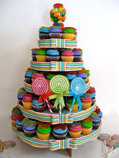 candy cupcake tower ~ photo inspiration