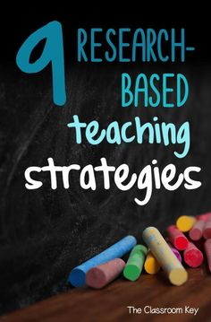 9 Research-Based Teaching Strategies for Your Toolbox - The Classroom Key 9 Research-Based Teaching Strategies for Elementary Teachers<br> Research based teaching strategies you can use today with a free printable chart. Teaching Techniques, Teaching Methods, Teaching Activities, Teaching Strategies, Teaching Tools, Teaching Math, Teacher Resources, Teaching Ideas, College Teaching