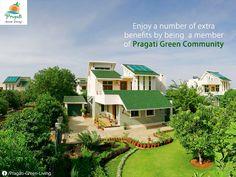 Enjoy a number of extra benefits by being a member of #PragatiGreen Community. Visit www.pragatigreenliving.com