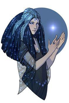 Tiunahkut, goddess of lies. She's descended from Asteria, goddess of the stars Dnd Characters, Fantasy Characters, Female Characters, Character Concept, Character Art, Concept Art, Galactik Football, Egyptian Mythology, Photo Portrait