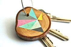 Pine Wood Keychain #luvocracy #graphicdesign #key