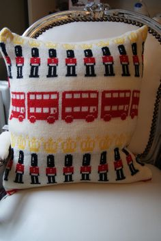 London Town Knitted Cushion £30.00